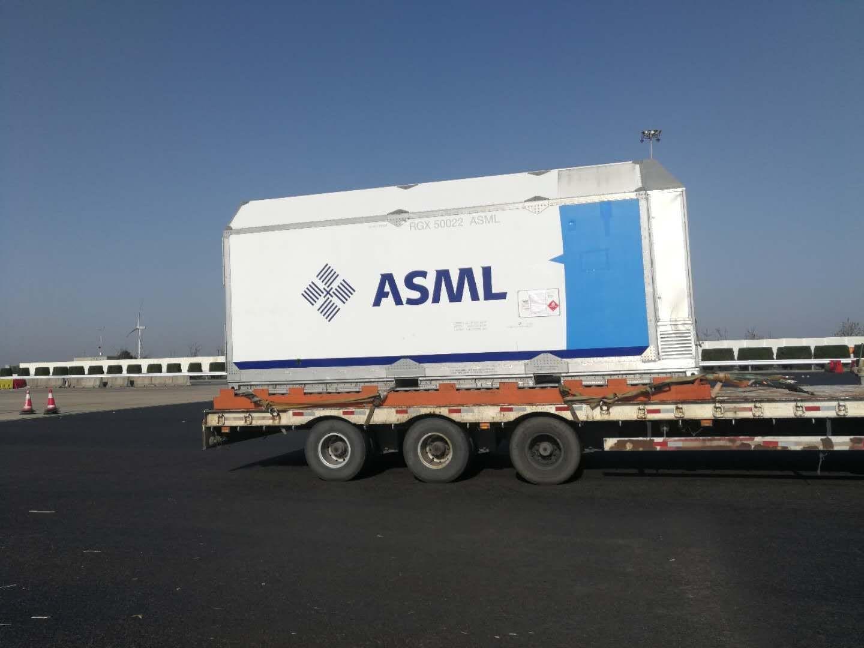 AMS重大进口设备光刻机启运进厂